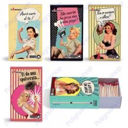 Fiammiferi famiglia Vintage Housewife Fiammino - 1 scatolina da 260