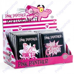 Portasigarette in metallo Pantera Rosa Pink Panther