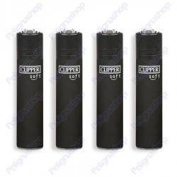 Clipper Large fantasia BLACK SOFT - 4 Accendini gommati