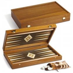 Backgammon Juego completo di pedine e dadi JU00349