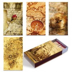 Fiammiferi 9,5 cm milleusi Maps Fiammino - Box da 12 scatoline da 45