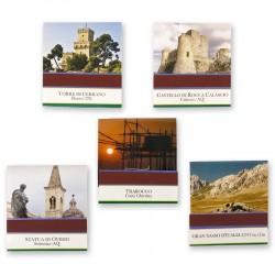 """Fiammiferi minerva """"Scopri e Vivi l'Abruzzo"""" - 5 scatoline da 20"""