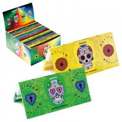 Cartine Lunghe + Filtri SNAIL Calavera Mexicana - 1 Box da 20 Libretti a Calamita