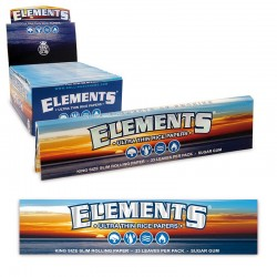 Cartine Lunghe Elements King Size Slim Ultra Sottili - 1 Box da 50