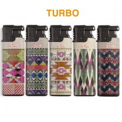 Ciao Turbo LARGE NAVAJO - Box da 50 Accendini