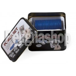 JUEGO MINI POKER SET con un mazzo carte da poker e 50 fiches