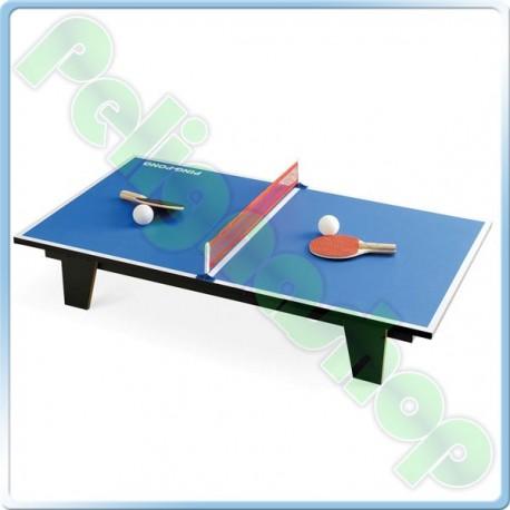 JUEGO Tavolo da Ping Pong completo di rete e racchette