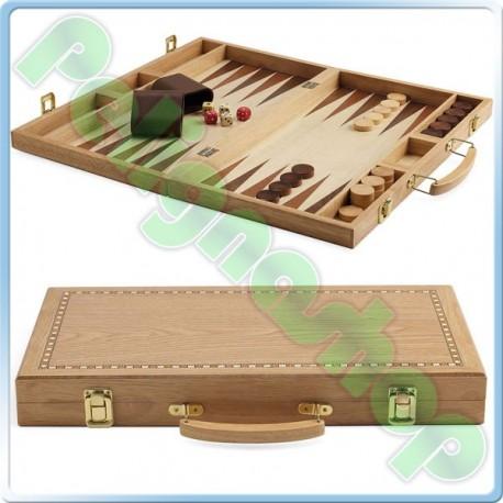 JUEGO Backgammon Valigetta con dadi pedine e bicchieri