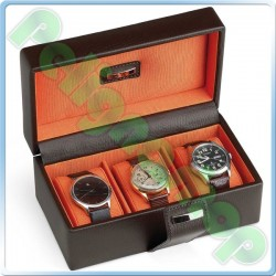 Portaorologi in ecopelle marrone ORIENT idea regalo