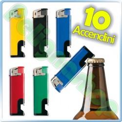 10 Accendini Ciao Piezo Bottle con apribottiglia cavatappi