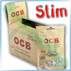 OCB SLIM 6MM BIODEGRADABILI - BOX 10 BUSTINE DA 120 FILTRI
