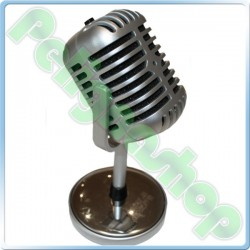 Satzuma Microfono Old Style Retro Vintage in Plastica jack 3,5 mm