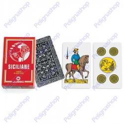 Mazzo di Carte da gioco Juego Siciliane 100% plastica