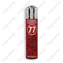 Accendino Clipper Large SMORFIA numero 77