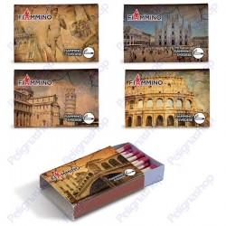 Fiammiferi svedesi Italia Fiammino - 4 scatoline da 38