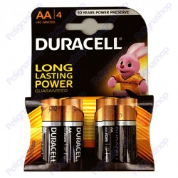 Duracell Plus Duralock Alcaline Stilo AA - Blister 4 Batterie