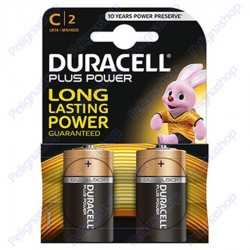 Duracell Long Power Alcaline Mezzatorcia C - Blister 2 Batterie
