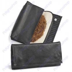 Portatabacco EGOIST in pelle con inserti in tessuto gessato JK06106