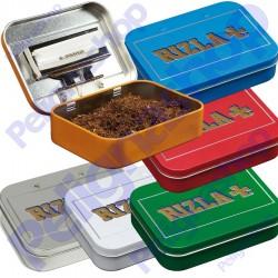 Portatabacco RIZLA in metallo colorato porta cartine