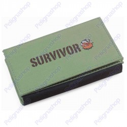 Portatabacco SURVIVOR ROLLING BAG multitasche in canvass Scuro