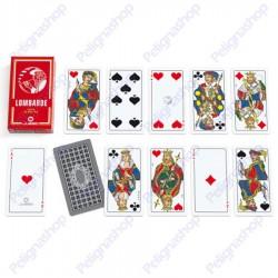 Mazzo di Carte da gioco Juego Lombarde 100% plastica