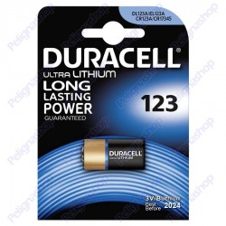 Duracell Ultra Lithium EL123A CR123 CR123A Pila Al Litio - Blister 1 Batteria