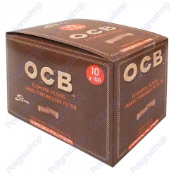 Ocb Slim Virgin 6mm Biodegradabili - Box 10 Bustine da 150 Filtri