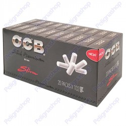 Ocb Stick Premium Slim 6mm Pop-up In Cannuccia - Box 20 Scatoline da 102 Filtri