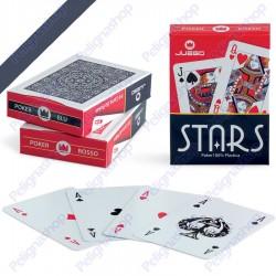 Juego Poker Stars - Mazzo di carte da Poker in plastica Dorso BLU