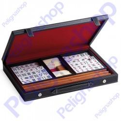 Mah Jong JUEGO valigetta in ecopelle con accessori