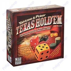 Yahtzee & Poker Texas Hold'Em Parker fiches carte 20 dadi istruzioni