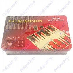 Backgammon portatile Minigames in latta