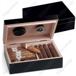 Humidor 25 Classic Black OFFICINE DE MEDICI Umidificatore per sigari