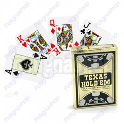 "Carte da gioco COPAG TEXAS GOLD BLACK 100% plastica ""casinò quality"""