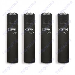 Clipper Large fantasia BLACK SOFT - 4 Accendini gommati