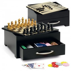 Juego Game Set Cortina con 200 fiches scacchi dama poker