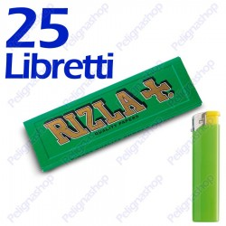 1250 Cartine Rizla Verdi corte - 25 libretti
