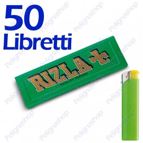 Cartine RIZLA GREEN verdi CORTE 25 pacchetti