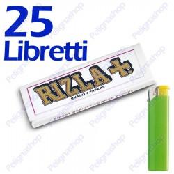 1250 Cartine Rizla Bianche corte white - 25 libretti