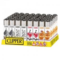 Clipper Large Fantasia PUGLIA - Box da 48 Accendini