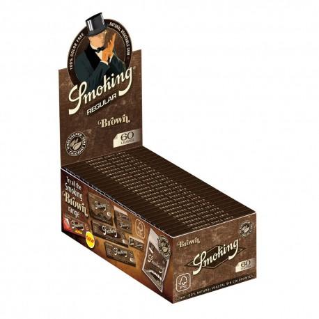 CARTINE SMOKING BROWN SENZA CLORO CORTE - box da 50 LIBRETTI