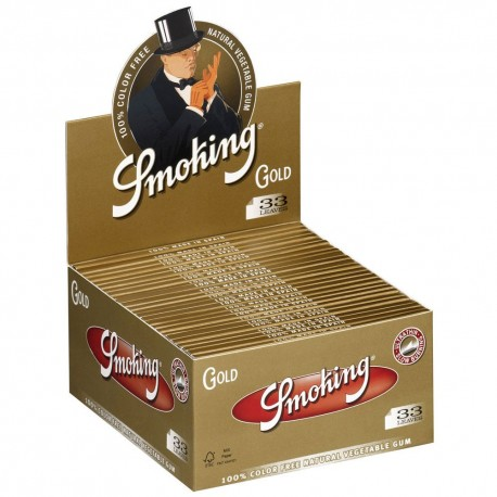 CARTINE SMOKING ORO KING SIZE SLIM LUNGHE GOLD - box da 50 LIBRETTI