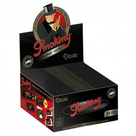CARTINE SMOKING NERE DE LUXE KING SIZE BLACK LUNGHE - box da 50 LIBRETTI