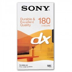 Videocassetta Sony DX 180