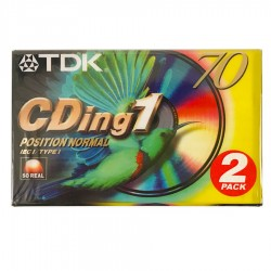 2 Audiocassette TDK CDing1 70 minuti position normal