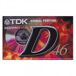 Audiocassetta TDK D46 normal position