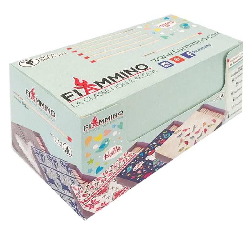 Collezionista Di Scatole Fiammiferi dettagli su fiammiferi 9,5 cm focolare short joy fiammino - 1 box da 12  scatoline