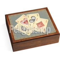 JUEGO Poker set Royale Assi con 100 fiches madreperlate e 2 mazzi di carte