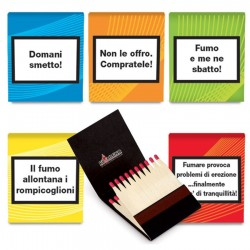 Fiammiferi Minerva ONLY FOR SMOKERS Fiammino - Box da 50 scatoline da 20