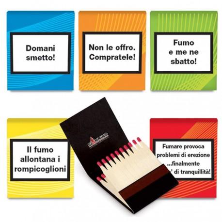 Fiammiferi Minerva ONLY FOR SMOKERS Fiammino - Box da 50 scatoline da 20